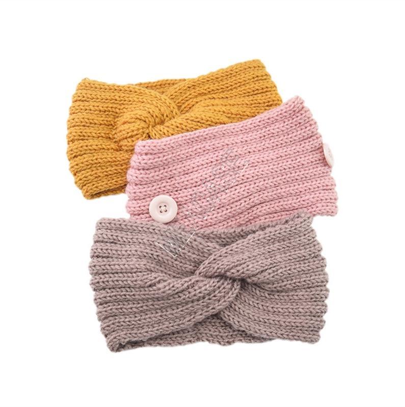 Вязаные повязки повязки зимняя теплая вязание головки с кнопкой для уха защитные дизайнеры маска держатель для волос D82701