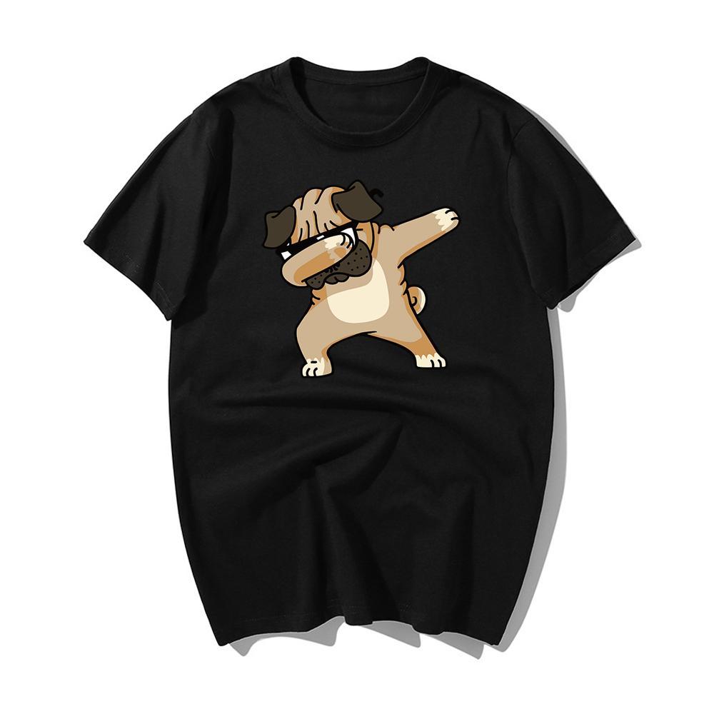 Nueva moda de verano 2020 dabbing PUG camiseta Harajuku Tops Camiseta de los hombres de manga corta camiseta de algodón 2020 Hip Hop camiseta de verano