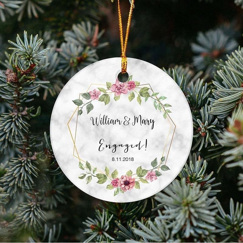 Personalidade Disc costume do casamento do presente da lembrança do noivo da noiva Display Name Árvore de Natal enfeites de Natal enfeites presente lzeH #
