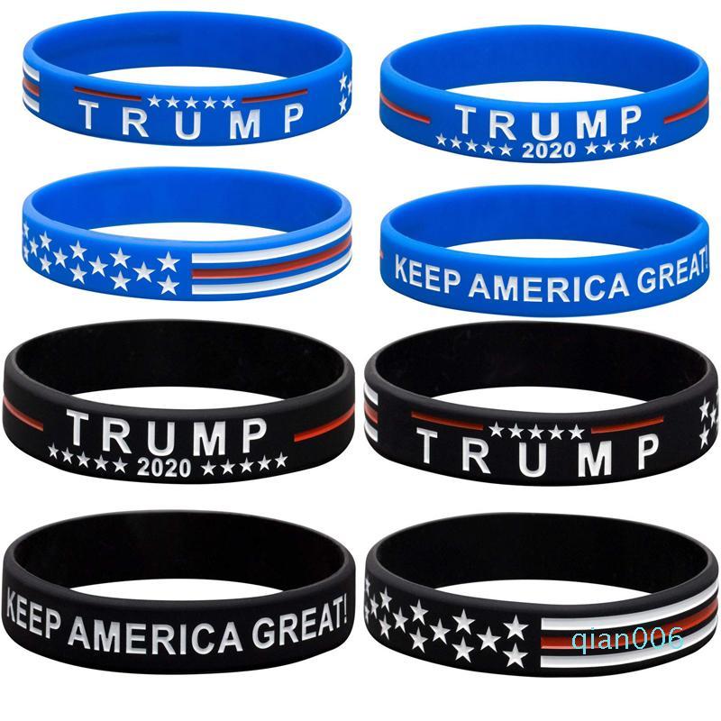 Trump Keep America Groß 2020 Silikon-Armband Trump Stützband Gummi-Armbänder arbeiten Schmucksache-Partei-Bevorzugung 5000pcs LJJO8129