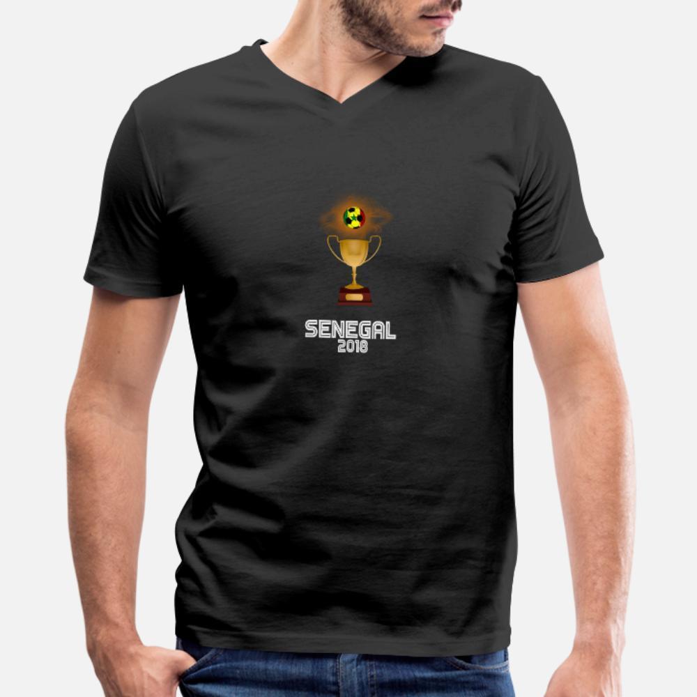 Senegal 2018 Fußballturnier Trophy Russland T-Shirt Männer personifiziert Short Sleeve S-XXXL Outfit Fitness beiläufiger Sommer dünnes Hemd