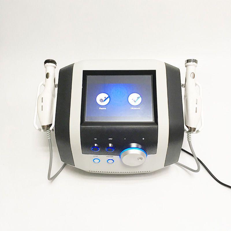 2 1 Plazma Kalem Güzellik Ekipmanları Ultrasonik Yüz Masaj Terapisi Plazma Duş Akne Temizleyici Ultrason Cilt Bakımı Makinesinde