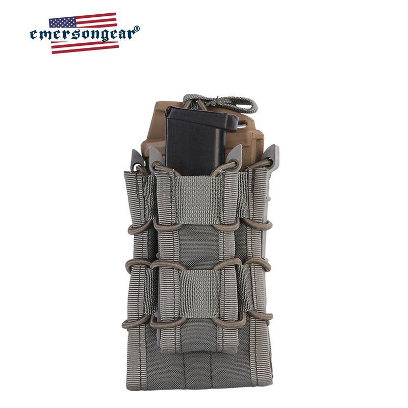 5,56 Rifle Revista bolsa táctica de MOLLE Abrir-Top RÁPIDO AK AR M4 Mag FAMAS bolsa de caza de Airsoft doble Decker Revista Titular