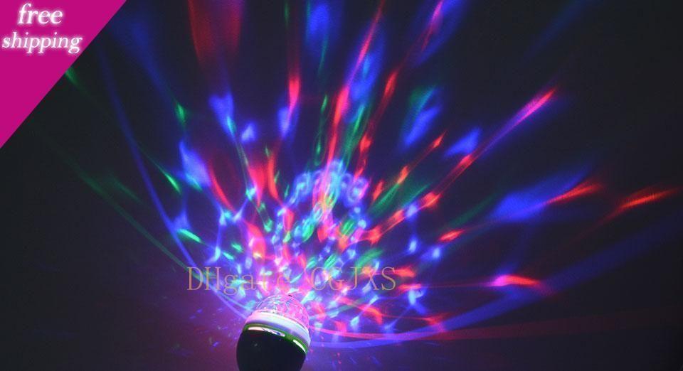 Eu Tak To E27 Tutma Bankası Rgb Led Gece Işığı 85 -265v E27 3w Led Sahne Işık Noel Projektör Led Ampul Tatil Lambası Üs