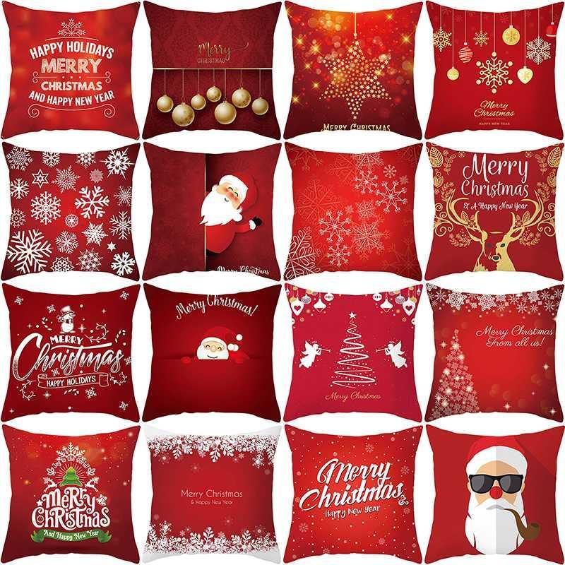 С Рождеством наволочка Санта-Клауса рождественские украшения для дома Navidad 2020 Украшения Подарок С Новым годом 2021