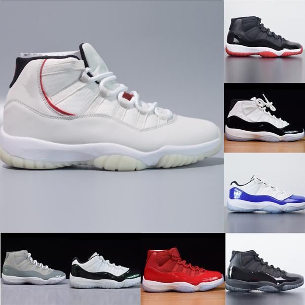 Yeni 11 Concord 45 Basketbol Ayakkabı Jumpman 11 Space reçeli Concord 23 Sneakers Platin Ton Gama Gym Kırmızı Trainer kadınlar Stilist Ayakkabı Bred