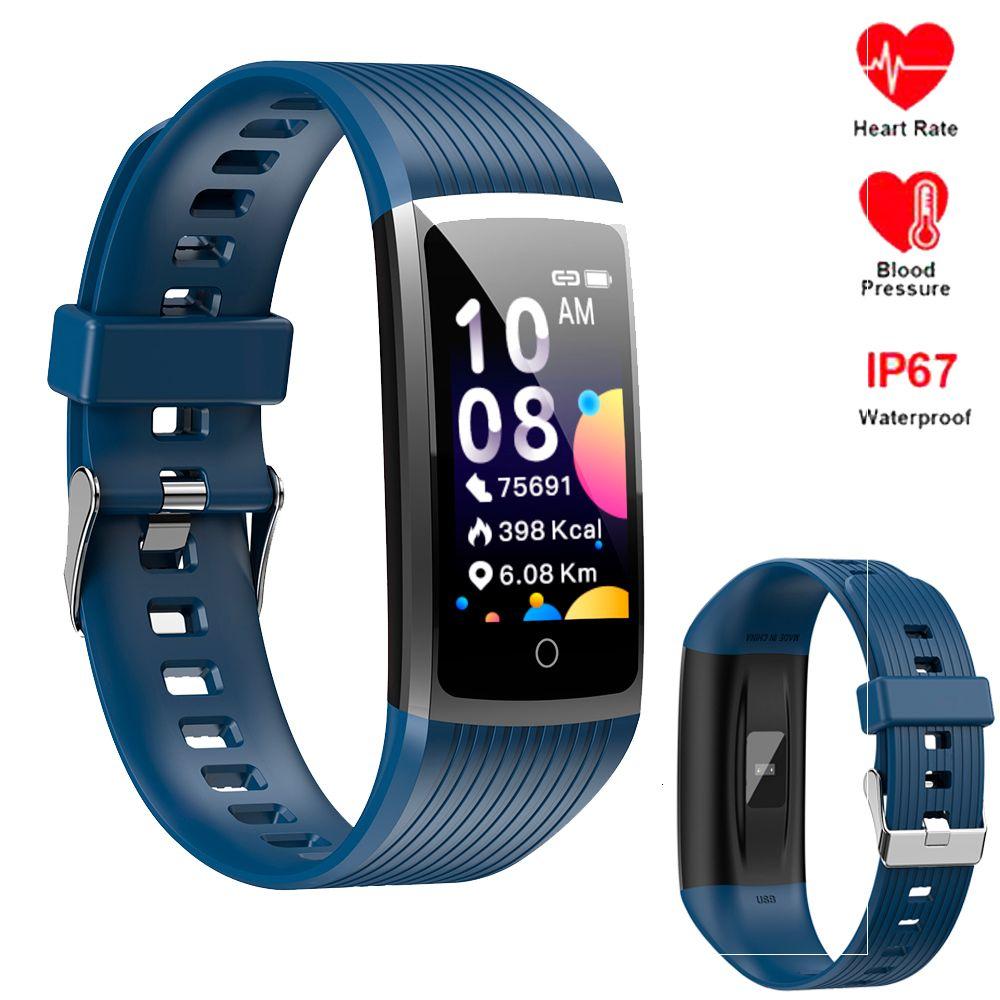 Intelligente Bracciale Uomini Tracker Donne fitness banda di pressione 4 frequenza cardiaca Sangue Contapassi Wristband Per Xiaomi Onore IOS Phone