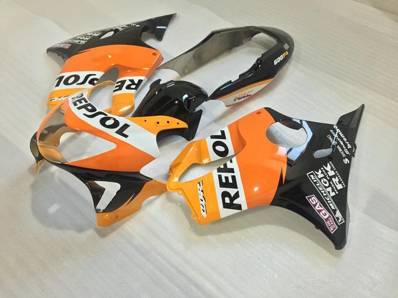 Injection kit carénages + cadeaux pour HONDA CBR600 F4 1999 2000 CBR600 99 00 CBR600 F4 99-00 couvercle du corps + pare-brise #Orange ROUGE REPSOL # A8KE4