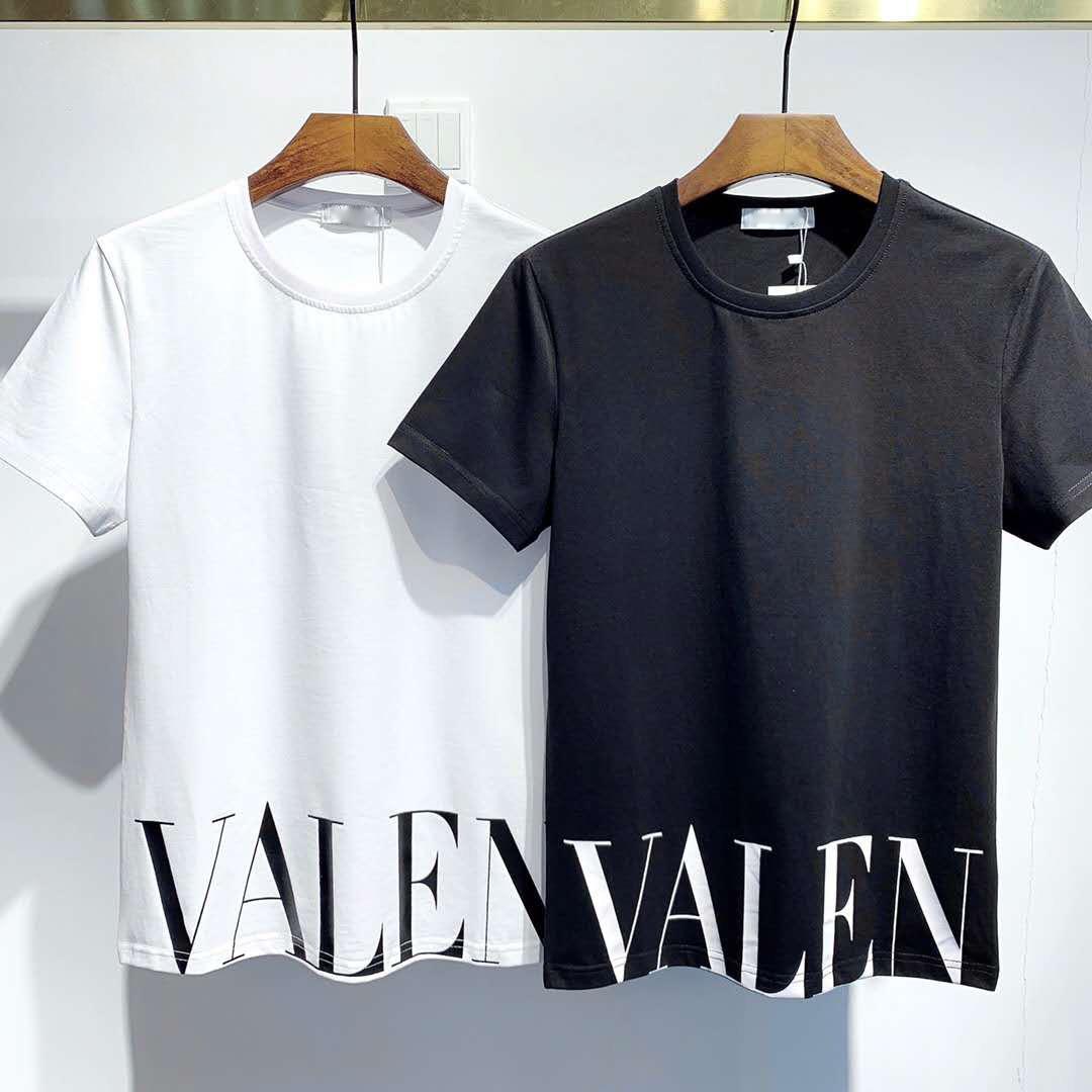 de manga corta camiseta de color sólido de la decoración del bolsillo hombres y mujeres parejas de los hombres de la moda de París Camiseta de verano cuello redondo de manga corta de hip-ho