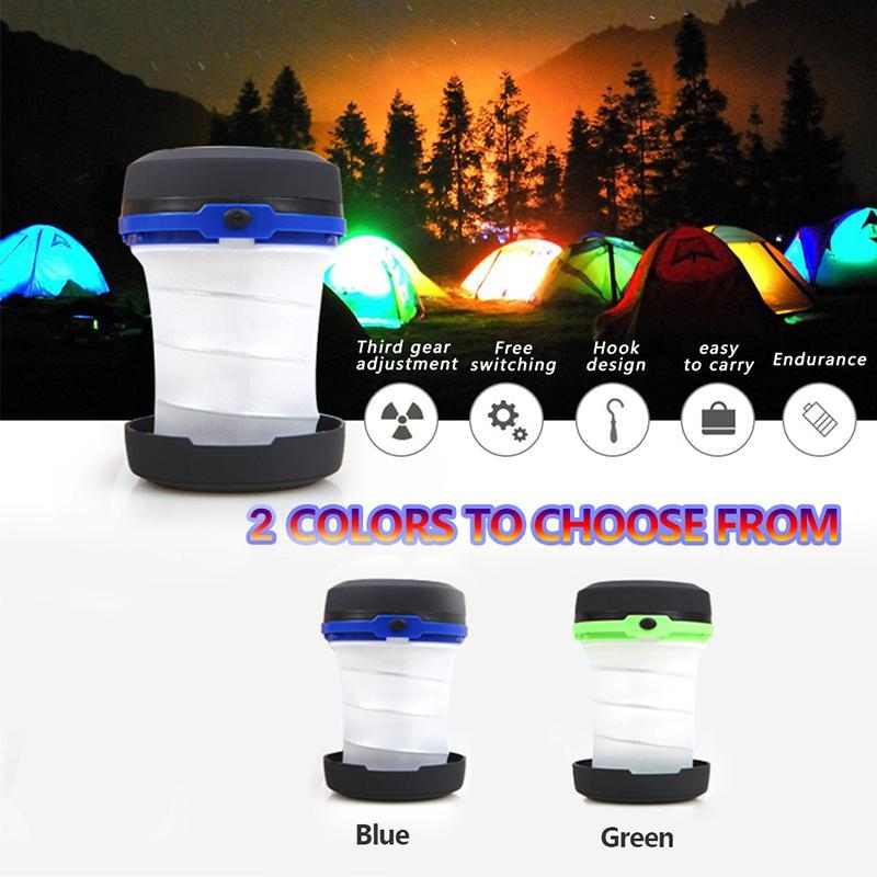Camp Lamp LED Camping Light Dimmable Spotlight Work Light Waterproof Searchlight Emergency Torch Folding