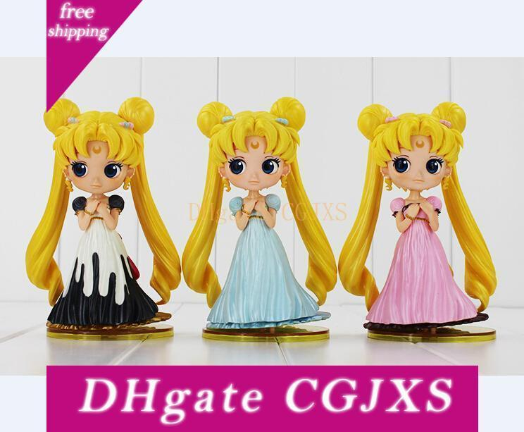Sailor Moon Q Posket Queen Jupiter Venus Pluto Sailor Moon Action Figure Dolls 15cm Free Shipping