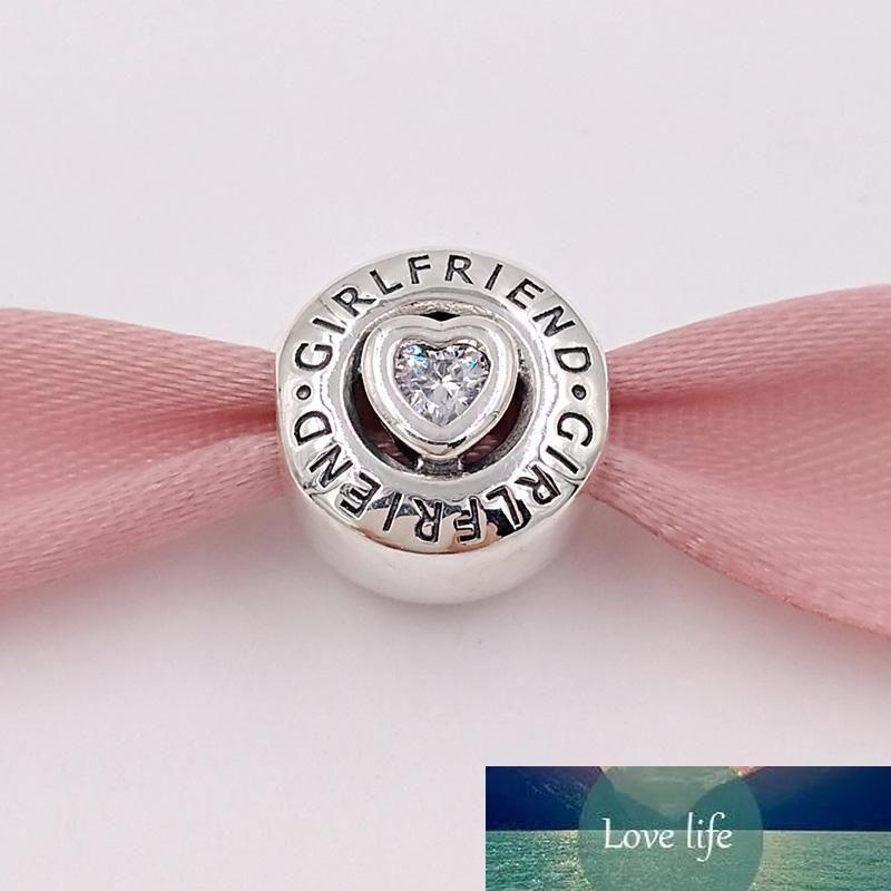 Auténticos 925 encantos del encanto de la novia esterlina bolas de plata se adapta al estilo europeo joyería collar de las pulseras 792145CZ