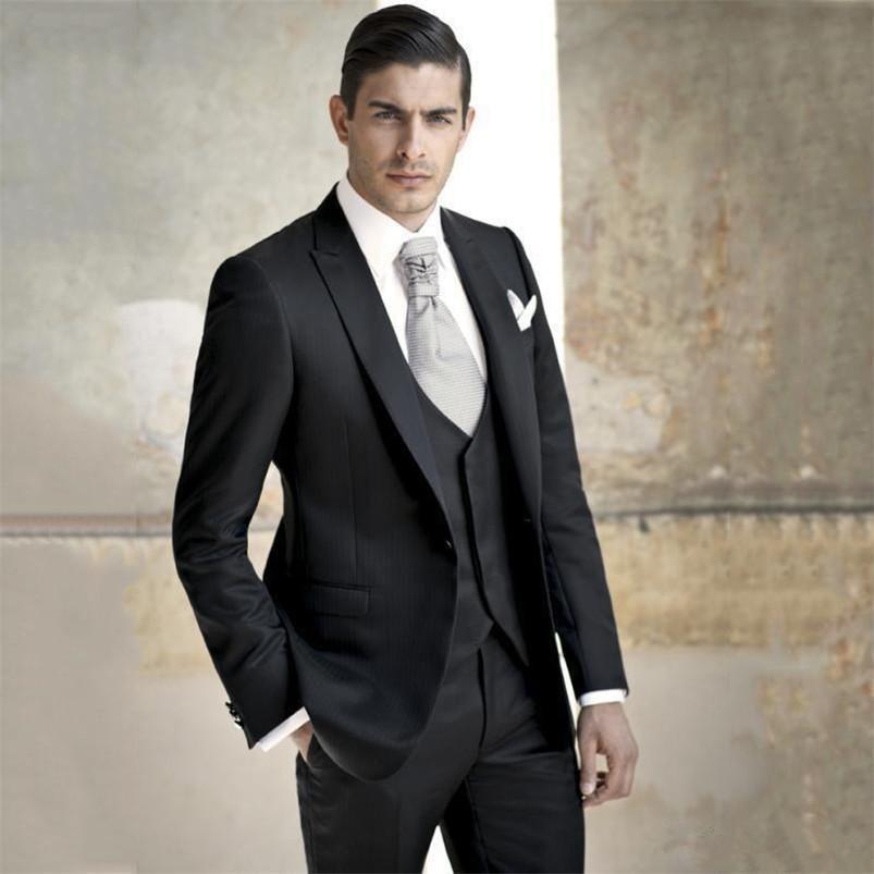 Classic Peak Lapel tuxedos groom wedding men suits mens wedding suits tuxedo costumes de pour hommes men(Jacket+Pants)