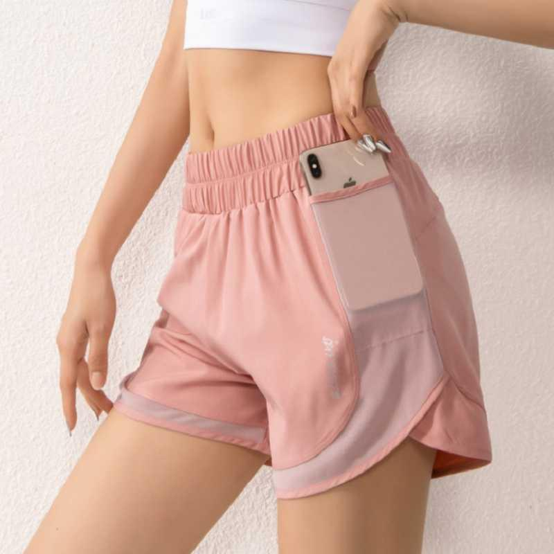 Women Gym shorts side pocket running shorts breathable quick dry yoga women workout fitness sportwear