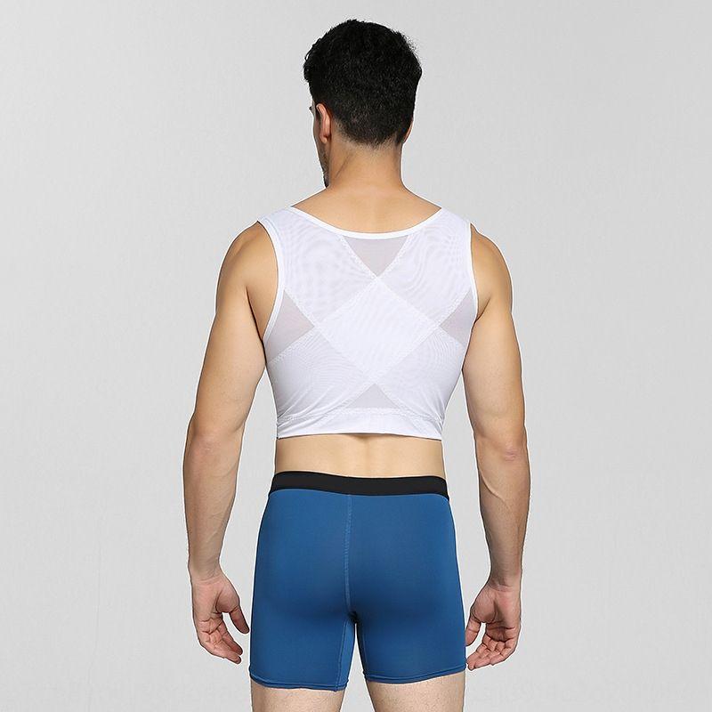 Neue Herren-Body-Shaping Kleidung Strumpfhosen Strumpfhosen Korsetweste Korsett Körperformungs enge Unterwäsche Brust dichte Rücken zieht dünne atmungs NY135