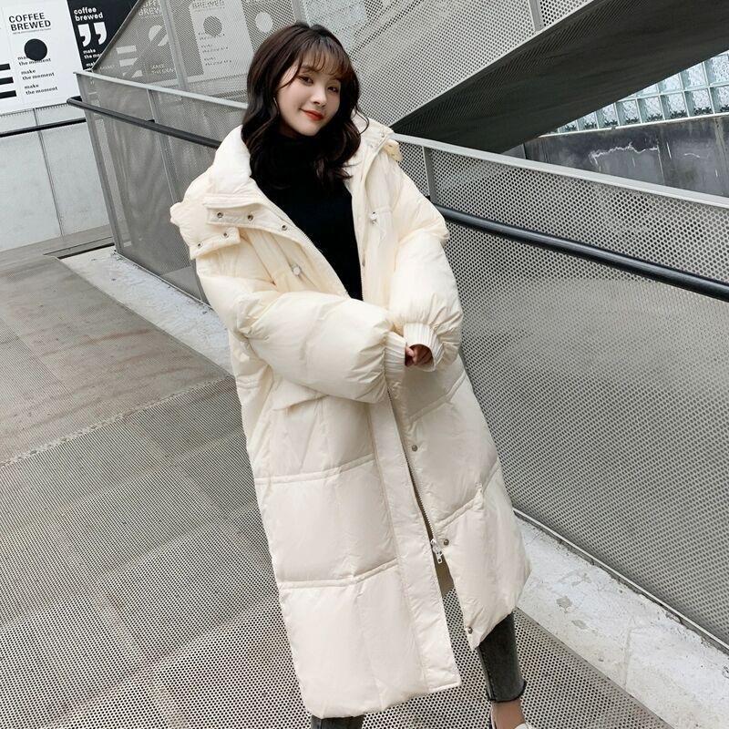 Di lunghezza media anatra bianca in stile coreano delle donne verso il basso sciolti addensato con colletto alla coreana giacca giacca luminosa faccia anti-stagione e Celebri Internet