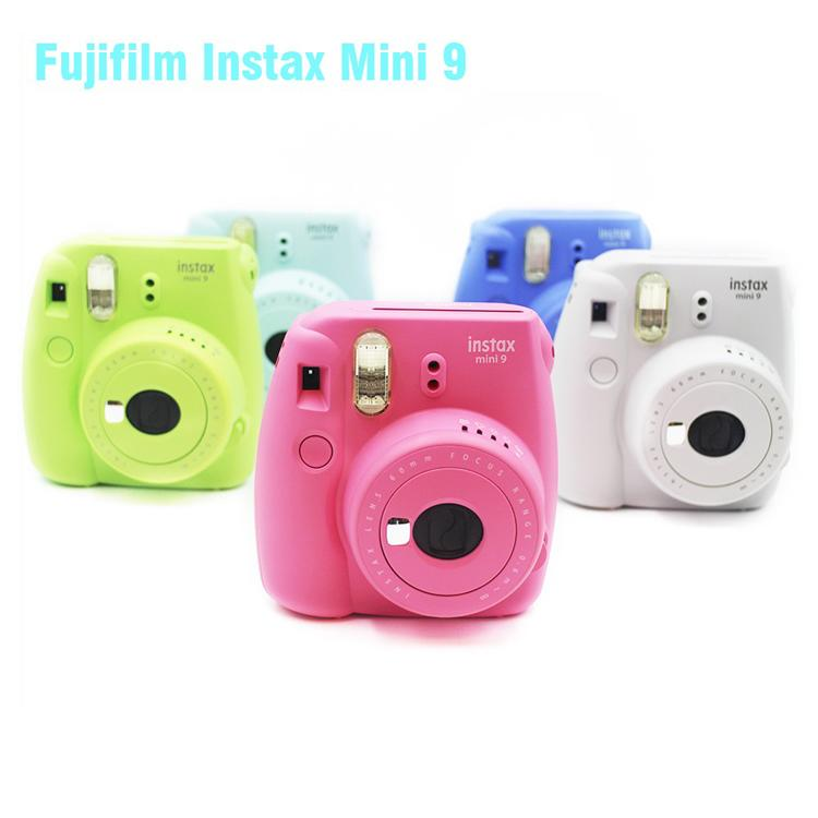 Wholesales Fujifilm Instax Mini 9 Instant Photo Camera Polaroid Camera Fixed Focus Kids Camera Free shipping drop shipping