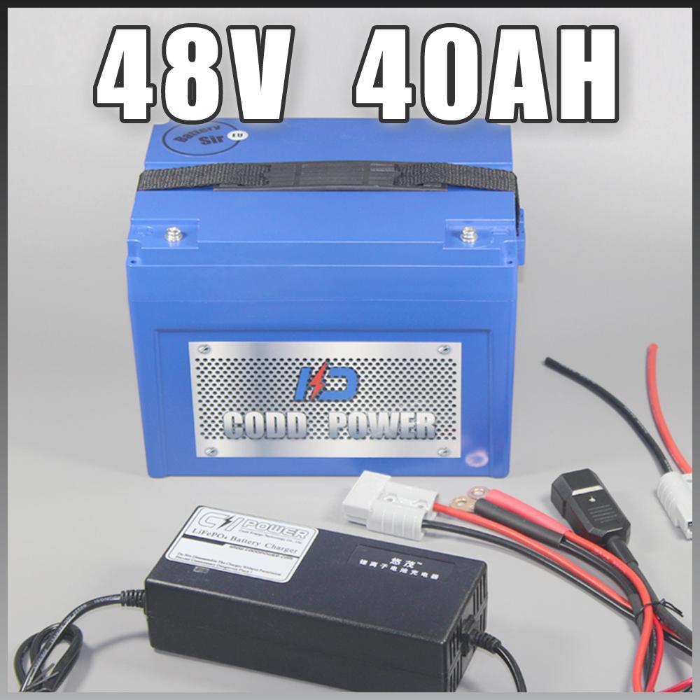 48V 40AH Scooter électrique au lithium ion avec ABS pour 3000W Ebike