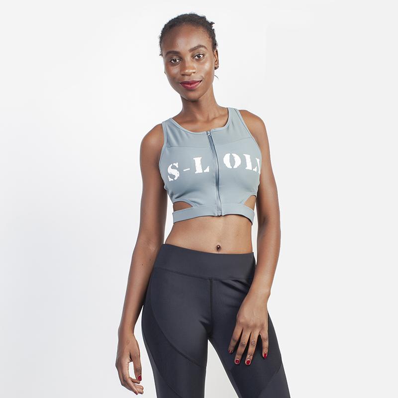 Fitnessstudio Kleidung sylphartig Loli Sports BH Sexy Yoga BHs Reißverschluss Fitness Frauen Front Top