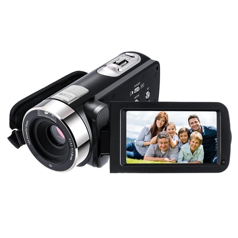 5.0M HD CMOS sensörü 3.0 inç TFT Flaş Dijital Kamera 24.0 MP FHD LCD Rotasyon SN Dijital Kamera ile 16x Zoom (US PL