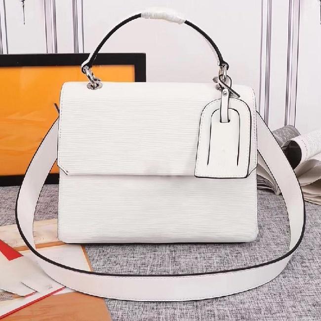 Brand Design Grenelle donne genuino della mucca Leather Shoulder Bag Argento Fibbia messaggero di modo Totes Crossbody Bag Media maniglia Cambridge Bag