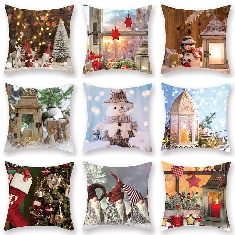 Kreative Weihnachtsschneeflo Pillowcase Print Schlafsofa Kissenbezüge Lustig-Kissen-Kissen-Qualitäts-Dekorative Pillowcase