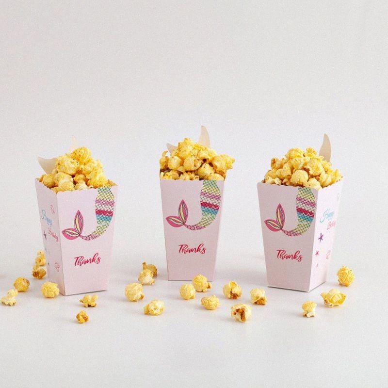 Dabonas Творческий Mermaid Design Candy Box Baby Shower Popcorn Box Для детей Birthday Party Supplies 3iLv #