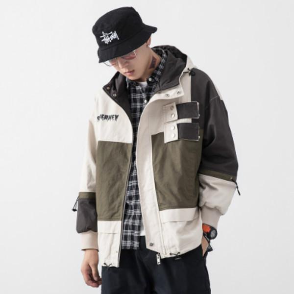 Vestes Mode pour Hommes Automne Hiver 2020 Contraste Casual Couleur Manteau Hommes Sport Hiphop style Streetwear-vêtement