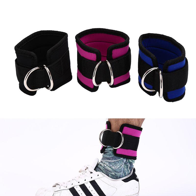 Apoio ao tornozelo 1 PCS 3Cores Protetor de esportes D-Ring Strap Cinto multi ginásio polia de perna aptidão equipamento de exercício