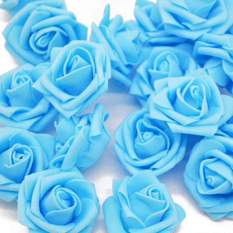 4 CM multicolor PE Rose de la espuma la cabeza de flores para la boda de coches sitio de la unión de la decoración DIY de la flor artificial de la guirnalda del arte decorativo