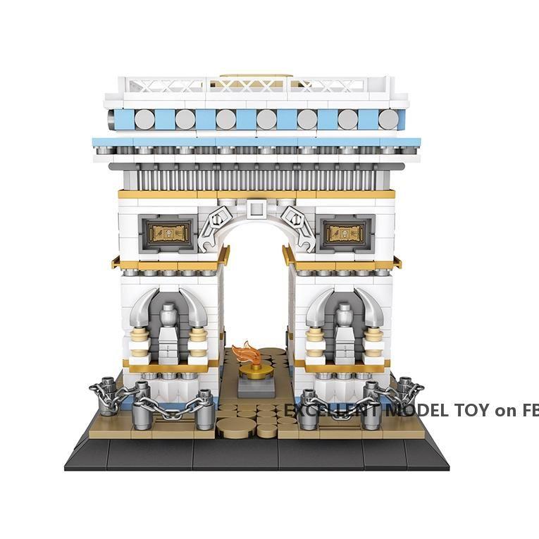 LOZ Der Arc de Triomphe in Paris Building Blocks Modell, Mini DIY Montage pädagogisches Spielzeug, Ornament für Weihnachten-Kind-Geschenk, Collect 1028, 2-2