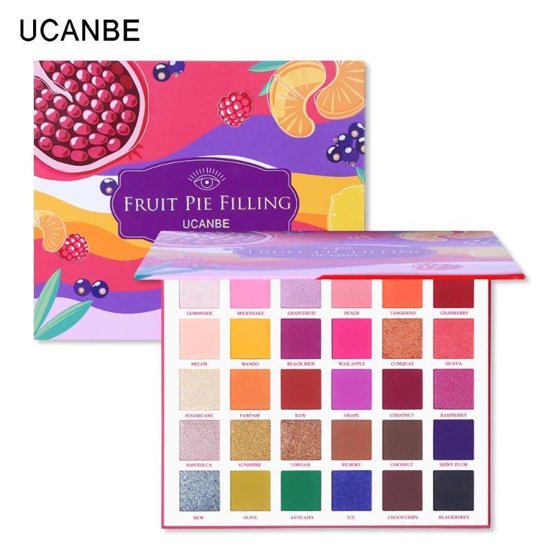 Eye Shadow Ucanbe 30 цветных фруктовых пирог, наполнение теней для теней для век Pirethak