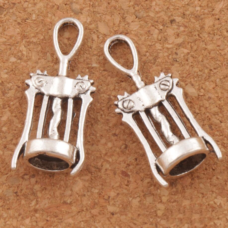 Encantos 100pcs / lot pulseras abridor de bricolaje creativo Abridor herramientas antiguas Fit joyería de los colgantes collar de plata del vino del sacacorchos xhlight DAGCO