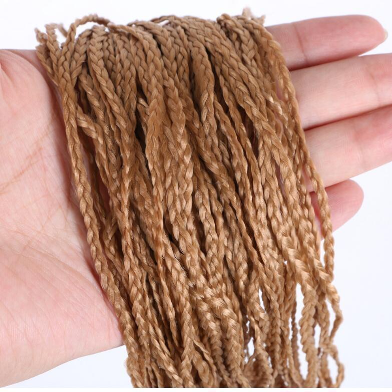 LIVRAISON GRATUITE Chemical Fibre Cheveux Trois tresses, certaines couleurs de photos de produits peuvent être sélectionnées de la capture d'écran couleur dans le message