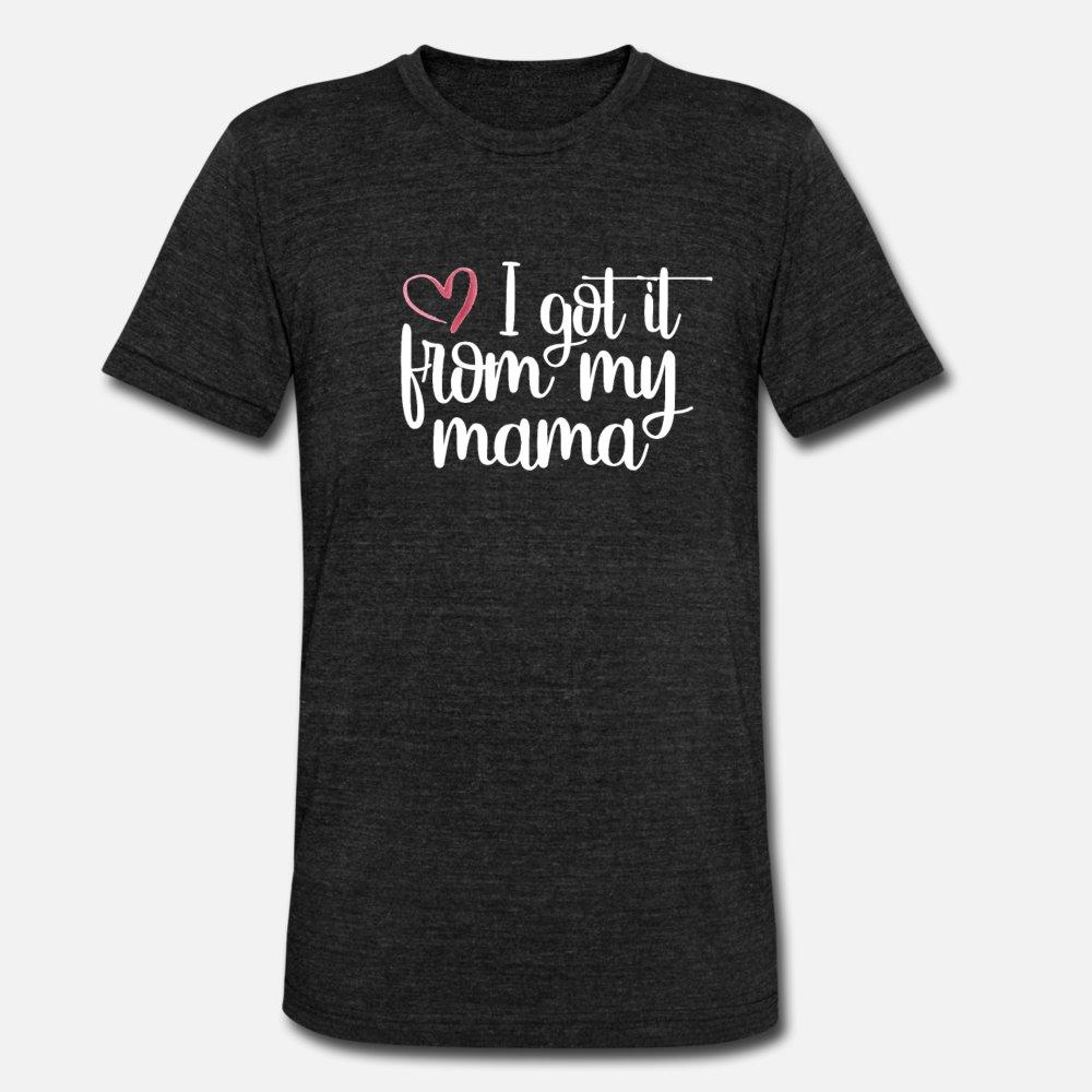 i got it from camisa minha mãe mãe s dia homens presentes de t personalizada t-shirt S-XXXL cor sólida Louco moda camisa do verão Estilo Kawaii
