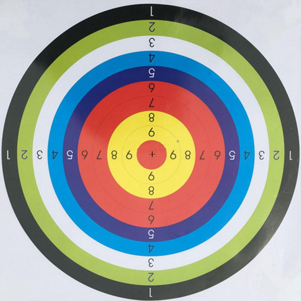 Shooting Paper Target Archery Ring Stripes Hunting Tool Pistol Equipment