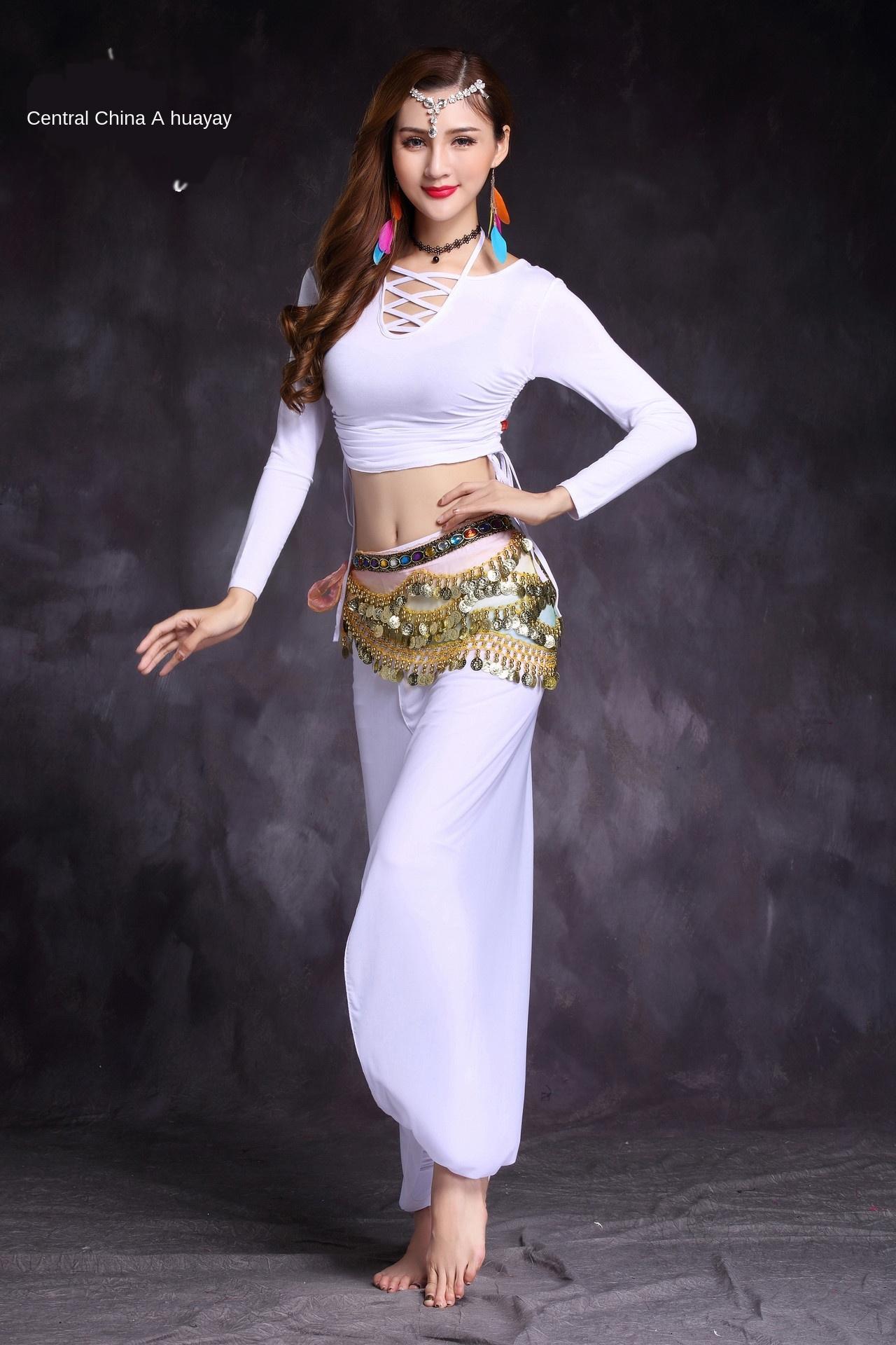 OEghF M3Wwc Huayu danza del ventre Danza nuovo yoga personalizzato pantaloni Lanterna praticano abbigliamento pantaloni abbigliamento lanterna pratica e il 2019 autunno tuta w