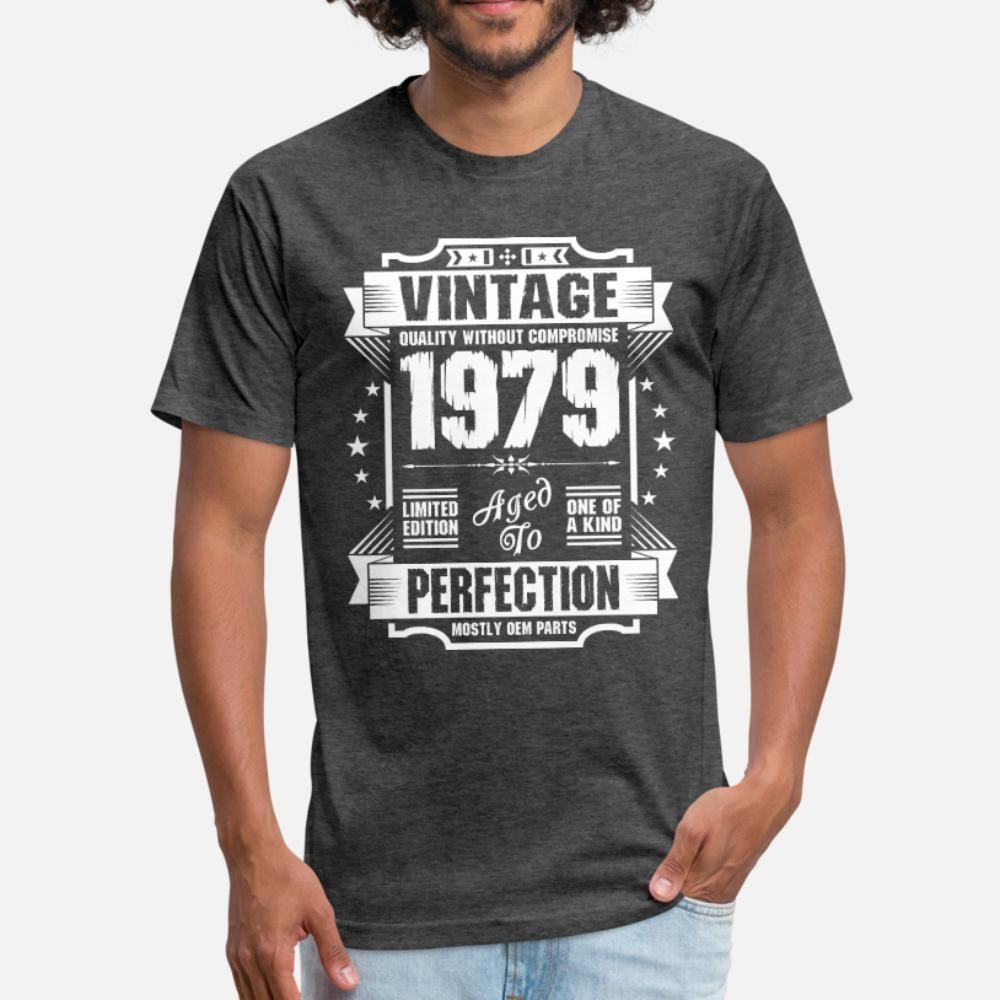 Vintage 1979 Perfección hombres de la camiseta 100% algodón Diseño de O-Cuello unisex famosa camiseta del resorte ocasional del otoño de Kawaii