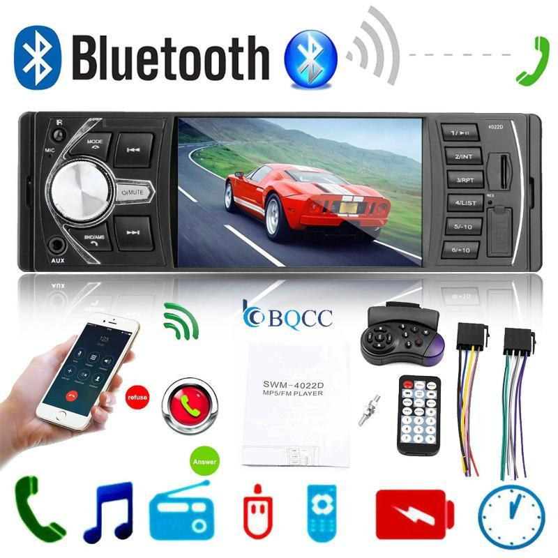 "4.1"" Autoradio Radio-Coche MP3 Bluetooth Manos Libres Auto USB SD AUX 1DIN ISO Autoradio RC + CAM"