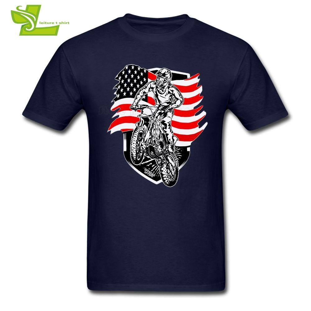 Motocross camiseta Eeuu Guys más nueva camiseta simple encargo de las camisetas de manga corta o cuello del papá personalizadas Ropa de hombre