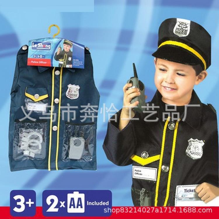 le prestazioni dei bambini di Halloween nuovo stadio vestiti vestiti della fase del ruolo del costume piccolo prestazioni di polizia per gli uomini e le donne