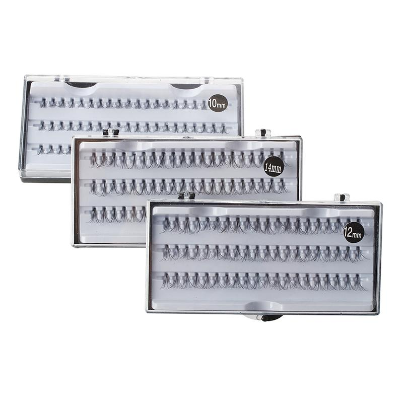 lujo- 3 Box 180 x 10 mm / 12 mm / 14 mm Artificial pestañas falsas Clump Lashes