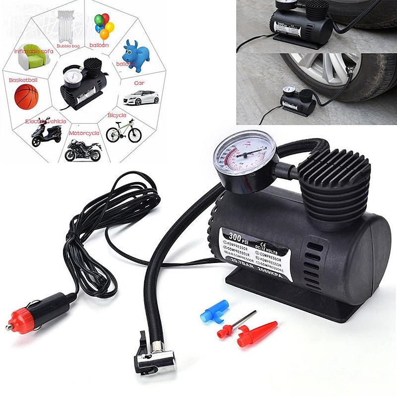 Dropshipping Car Mini Inflatable Pump Electric Tire Pressure Monitor Compressor Portable PSI 12v Pumping Air Tires Pumps