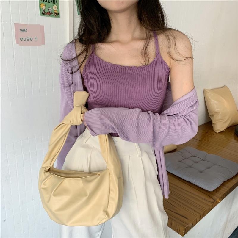 stile coreano CAvOZ ins dimagrante a maniche lunghe giubbotto cappotto + canotta con vestito a due pezzi a prova di sole snellezza