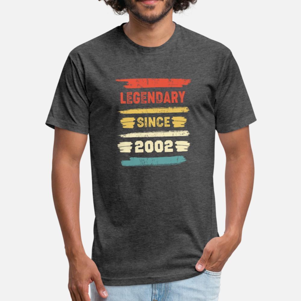 Ретро день рождения подарок Vintage Legendary С 2002 тенниска мужчины Проектирование хлопок Размер евро S-3XL Костюм весна осень Kawaii рубашка