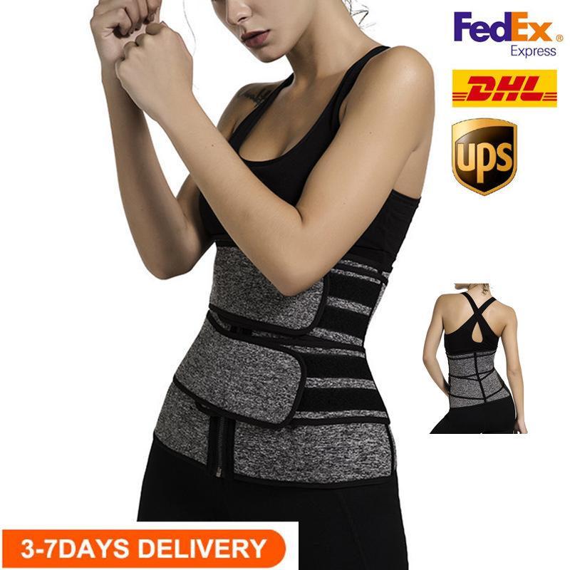 الولايات المتحدة STOCK، الرجال النساء ملابس داخلية للتنحيف الخصر المدرب مشد حزام البطن التخسيس Shapewear قابل للتعديل FY8084 الخصر دعم الجسم للتنحيف