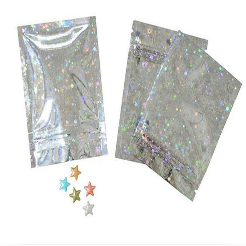 Sacos de bloqueio de alumínio Laser Bagsstorage Limpar Zip Zip Side folha holográfica Us Bloqueio stand Seal Mini Up Um saco yhEal home2009
