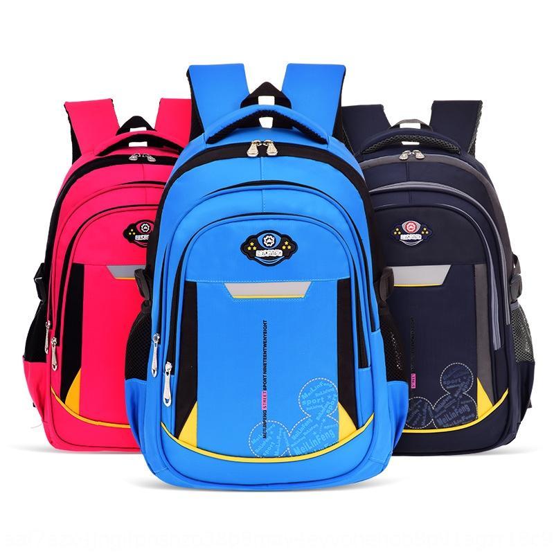 ox3GX Yeni ilkokul okul çantası 6-12 yaş omurga koruması 1-6 dereceli kız yük azaltma erkek ve çocuk kampüs Çanta sırt çantası Pr