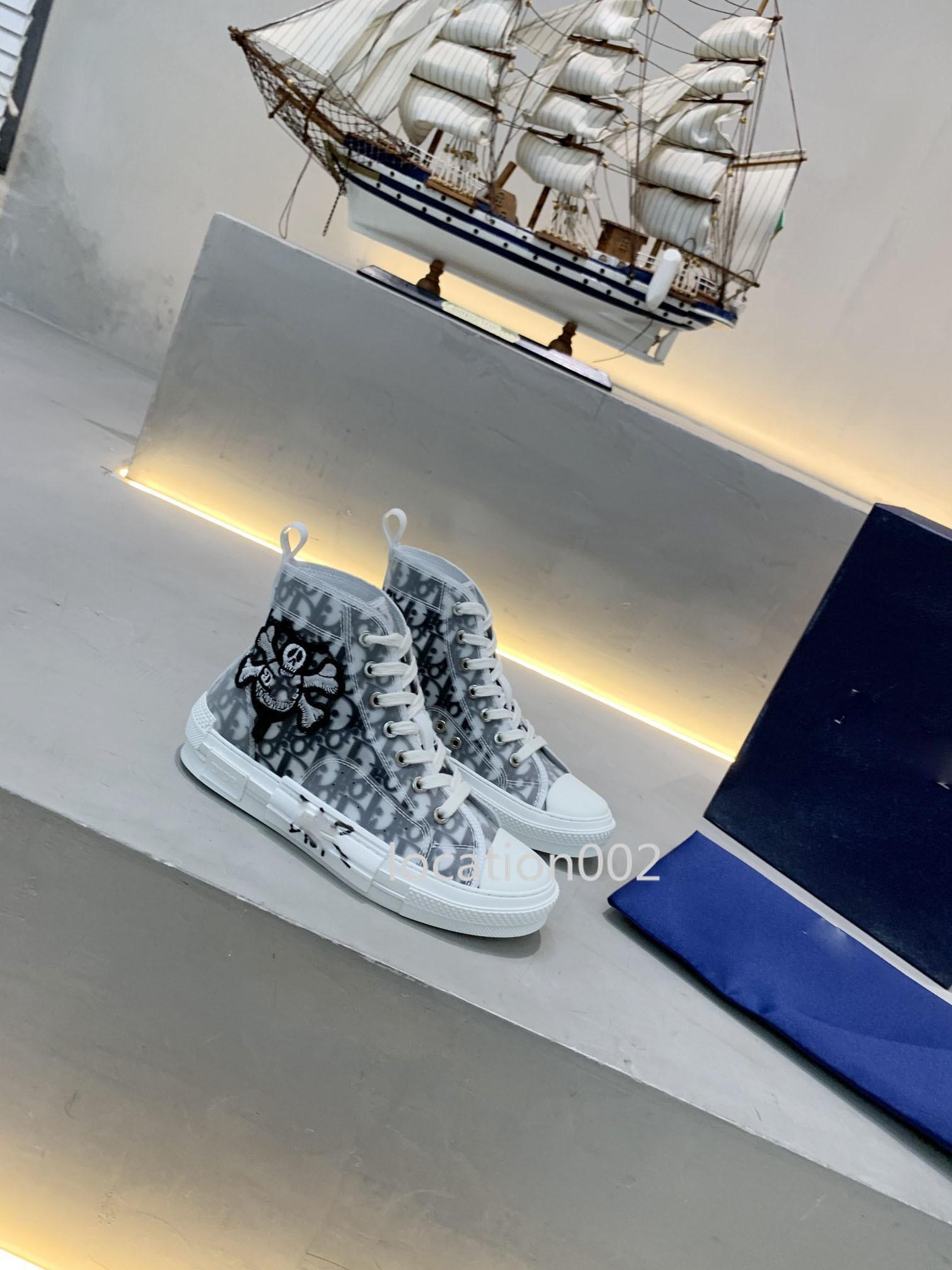 Dior flor Diagonal Tess los calzados informales de diseño de moda inferior grueso Triple S zapatillas de deporte de los hombres retros de Healer calza botas S Casual