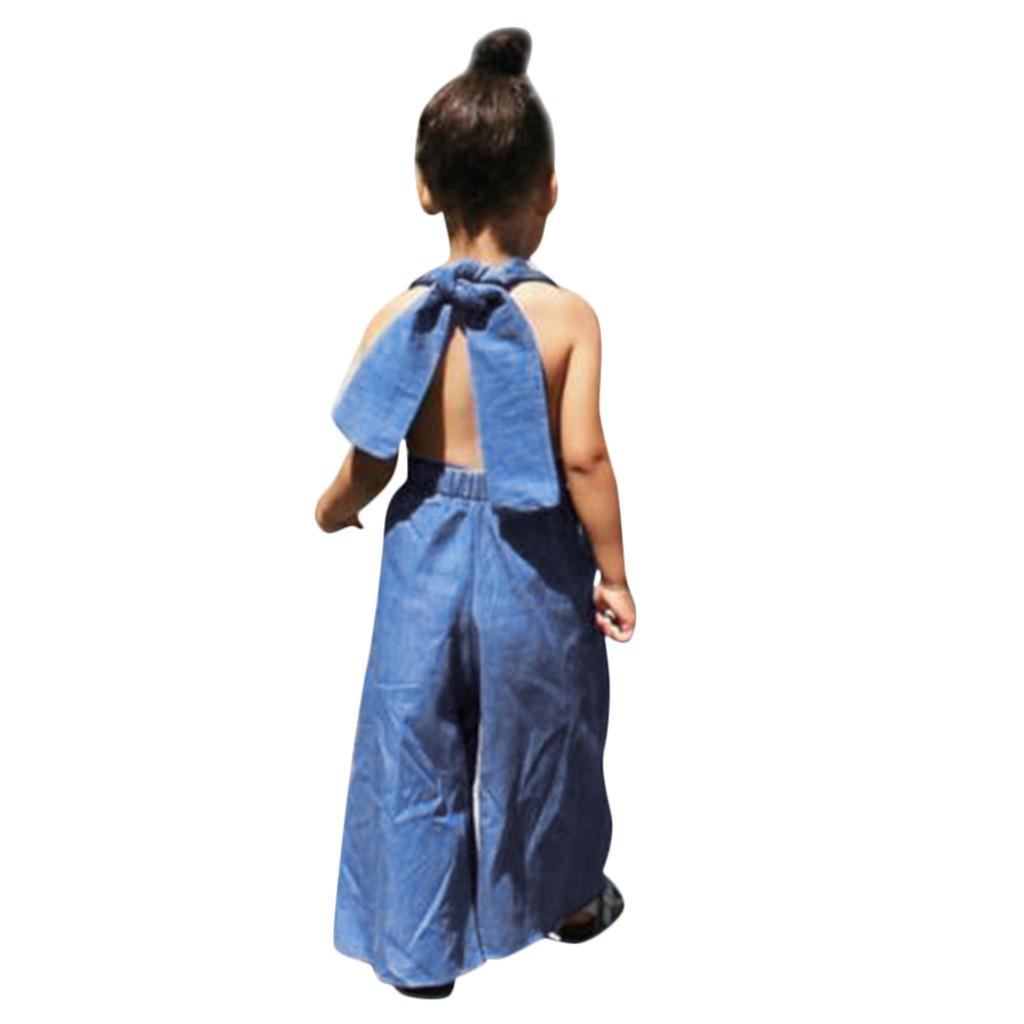 Kleinkind Baby-Kind-Mädchen Solide Lace-up Overall-Hosen-Hose lose Hosen Kleidung Outfit Baumwolle Baby-gute Qualität neue Kleidung Set